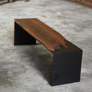 STEEL BENCH (TV BOARD) 월넛